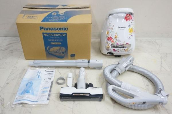 パナソニック 紙パック式掃除機 MC-PC34G-W